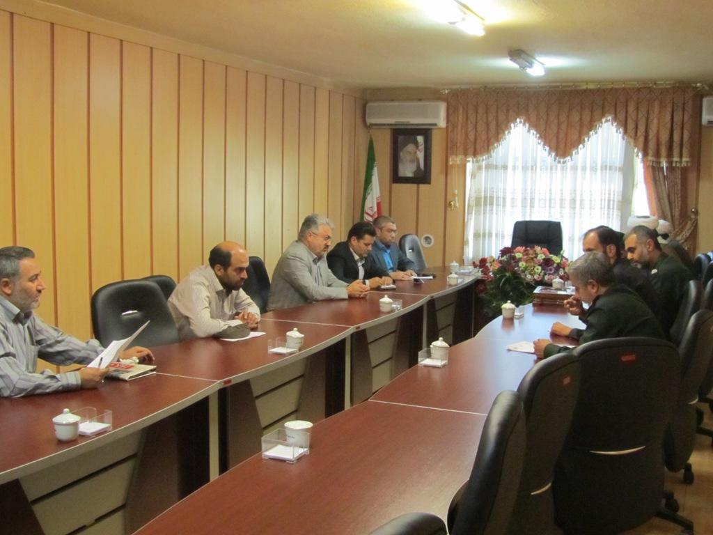 جلسه ی مشترک شهردار الوند و فرمانده ی سپاه ناحیه امام رضا (علیه السلام)