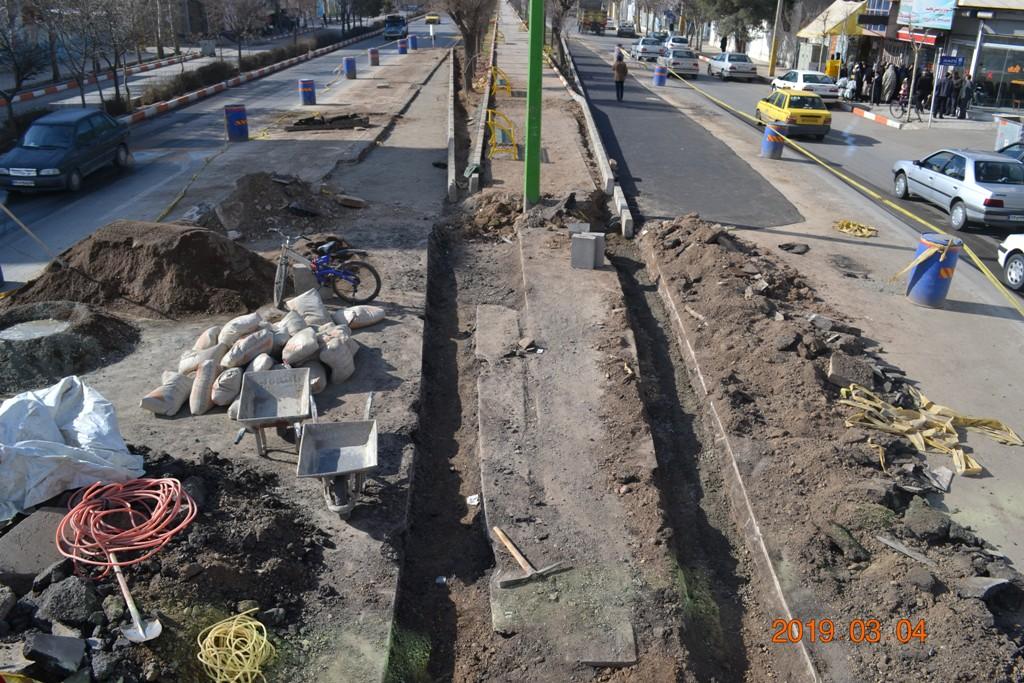 حل معضل پرخطر ترین نقطه شهر با اصلاح هندسی معبر