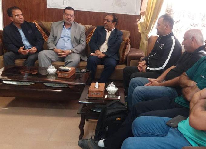 دیدار شهردار الوند با رییس فدراسیون ژیمناستیک عراق