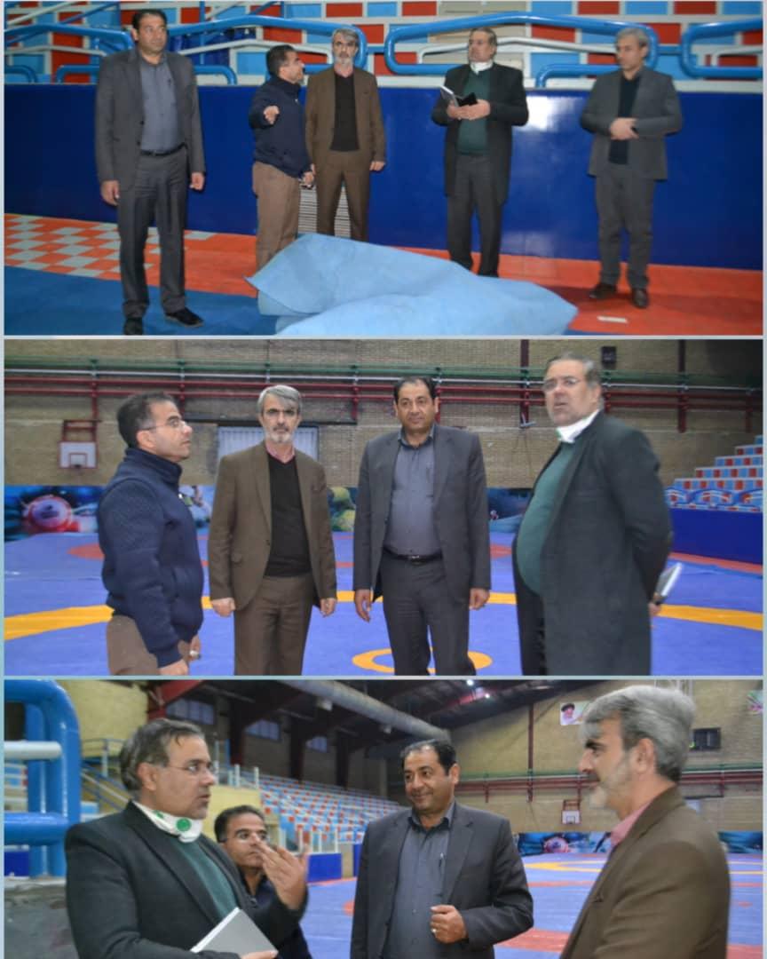 بازدید دکتر روح الله احمدزاده کرمانی از محل برگزاری مسابقات کشتی روز جهانی کودک