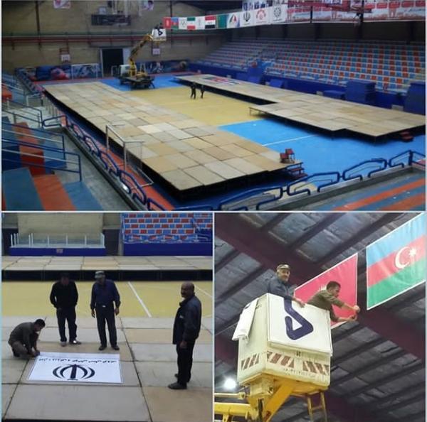 آماده سازی محل برگزاری مسابقات
