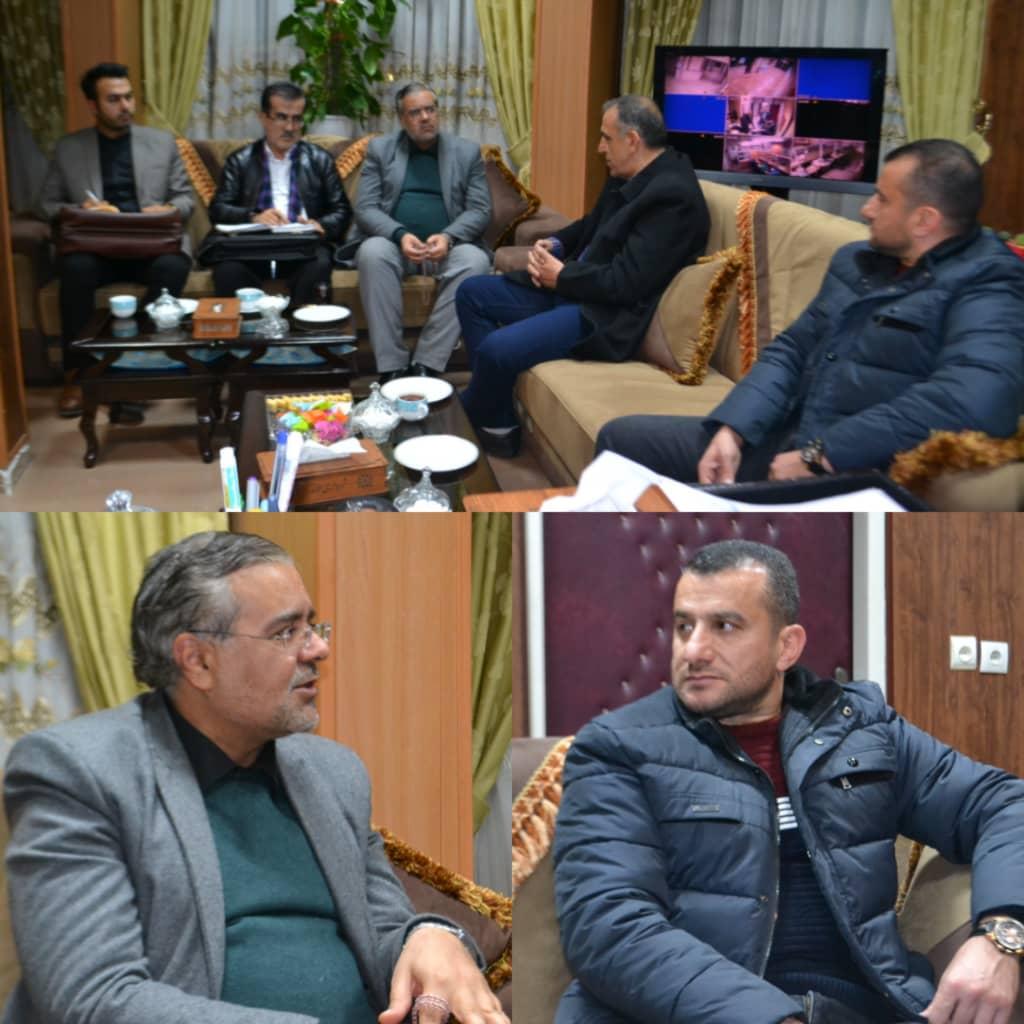 دیدار دکتر روح الله احمدزاده کرمانی،شهردار الوند و رئیس ستاد برگزاری مسابقات کشتی