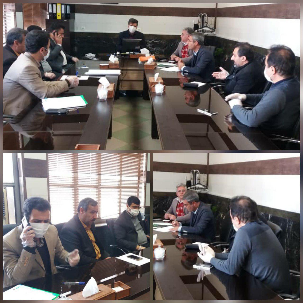 تشکیل جلسه کمیته بحران شهرداری الوند